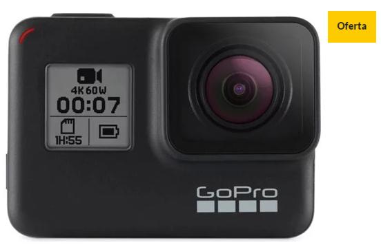 Action cam GOPRO Hero 7 Black (4K – 12 MP – Wi-Fi e Bluetooth)