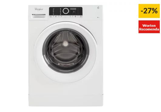 Máquina de Lavar Roupa WHIRLPOOL Supreme FSCR 80217 (8 kg – 1200 rpm – Branco)