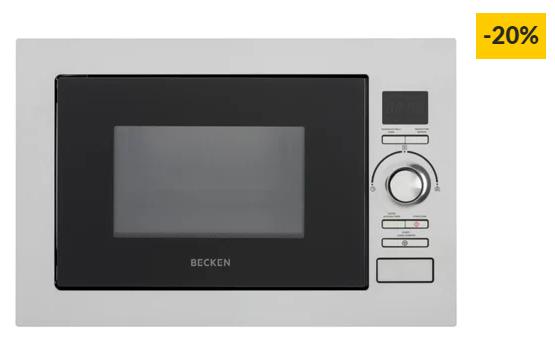Micro-ondas Encastre BECKEN BBIMW2515 IX (25 L – Com Grill – Inox)