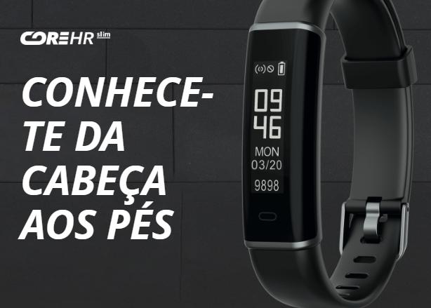 CoreHR Slim – Pulseira de Atividade com Sensor Cardíaco