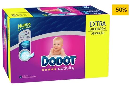 Fraldas DODOT Activity Extra Box T3 (120 unidades)