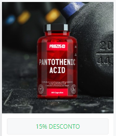Ácido pantoténico (vitamin B5) 500 mg 60 cápsulas