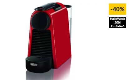 Máquina de Café NESPRESSO Delonghi Essenza Mini EN85R (19 bar – Vermelho)