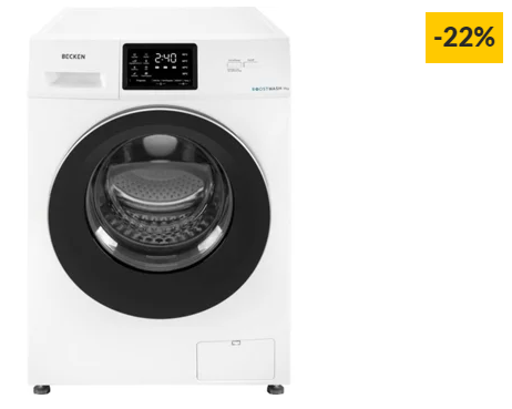 Máquina de Lavar Roupa BECKEN BoostWash BWM3639 (9 kg – 1400 rpm – Branco)