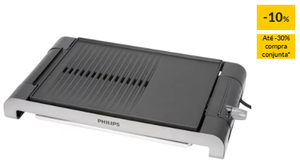 Grelhador de Mesa PHILIPS HD4419/20 (2400 W)