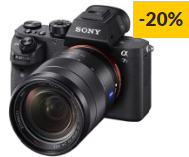 Máquina Fotográfica Mirrorless SONY A7 Mark III+28-70mm (24.2 MP – Sensor: Full-Frame – ISO: 50 – 204800)