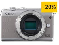 Máquina Fotográfica Mirrorless CANON EOS M100 (24.2 MP – Sensor: APS-C – ISO: 100 a 25600)