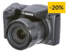 Máquina Fotográfica Bridge CANON Powershot SX430 IS (Preto – 20 MP – ISO: ISO: Auto até 1600 – Zoom Ótico: 45x)